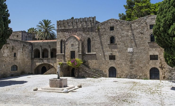 """Argyrokastro Square In Rhodes Old Town"""
