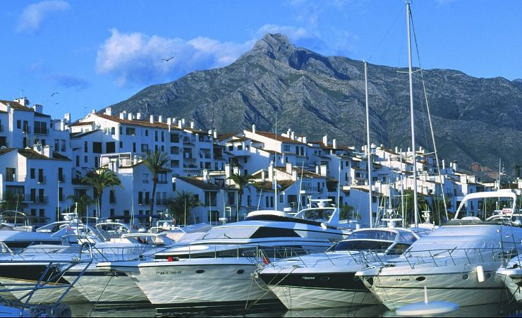 """Boats at Banus Port in the Town of Marbella"""