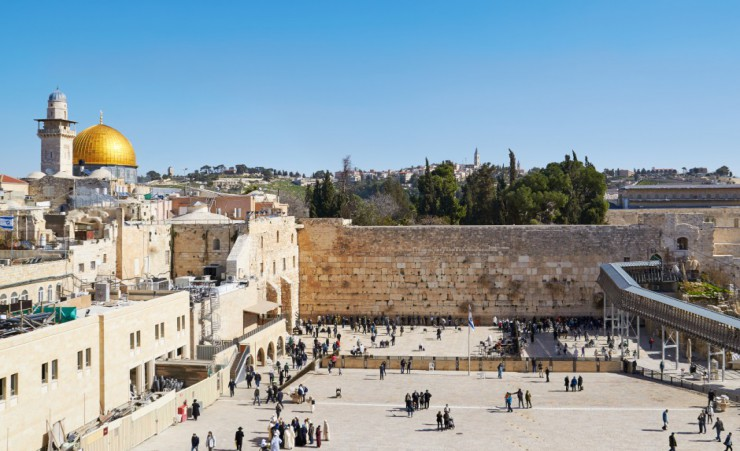 """The Wailing Wall In Jerusalem"""