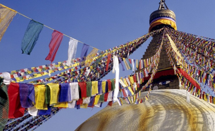 """Prayer Flags At Stupa Of Swayambunath"""
