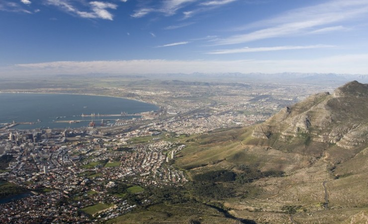 """Cape Town From Table Mountain"""