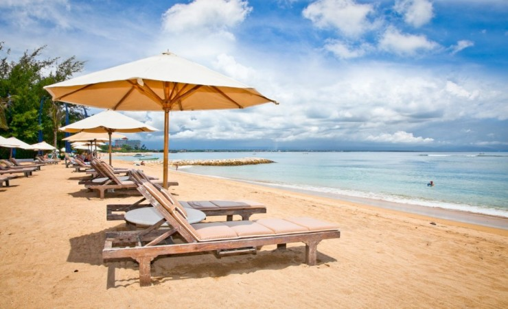 """Loungers On Sanur Beach"""