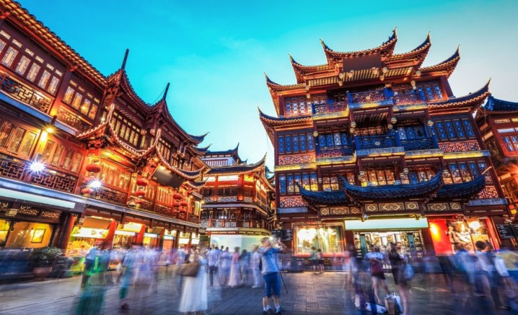 """Yuyuan Gardens At Night"""