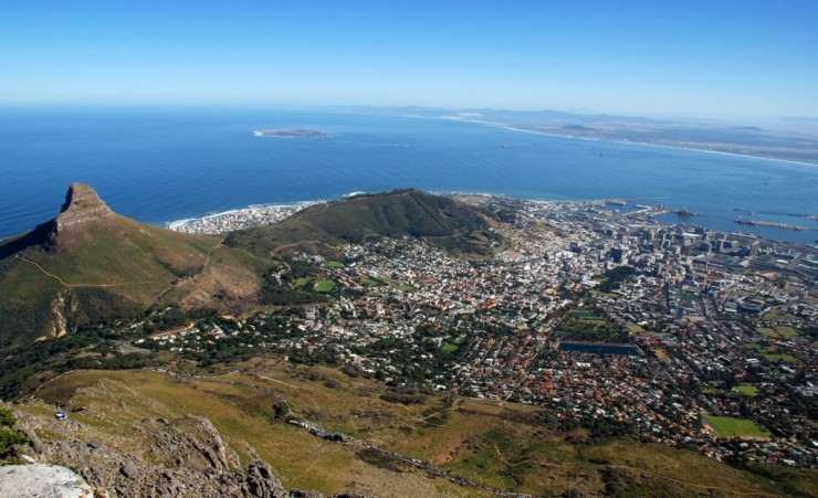 """Capetown And Table Bay"""