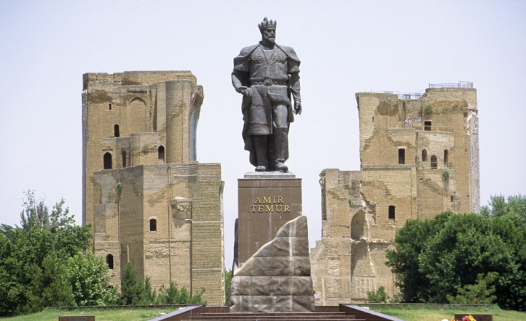 """Statue Of Tamerlane Ak Saray Palace"""