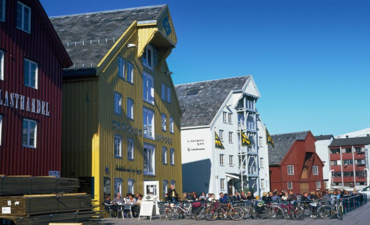 """Traditional Buildings In Tromso"""