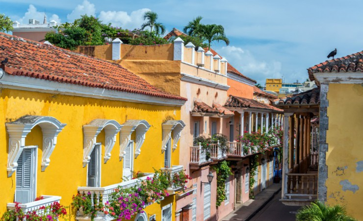 """Colonial Buildings In Cartagena"""