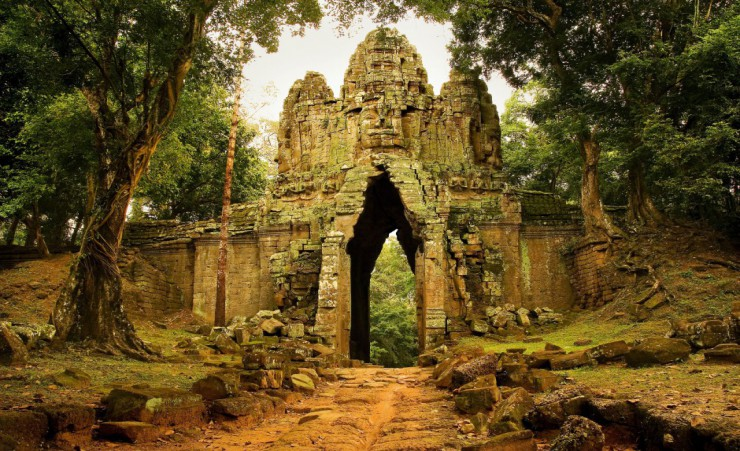 """Angkor Thom West Gate"""