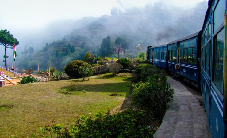 Train Travelling Through India