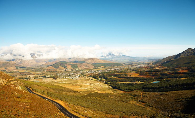 """Franschhoek Valley Wine Region"""