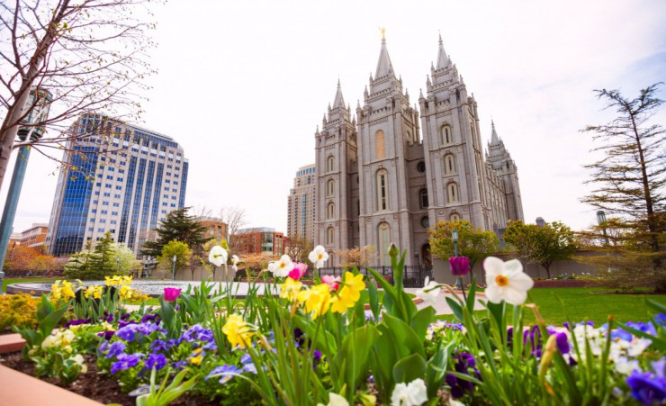 """Salt Lake City Mormon Temple"""