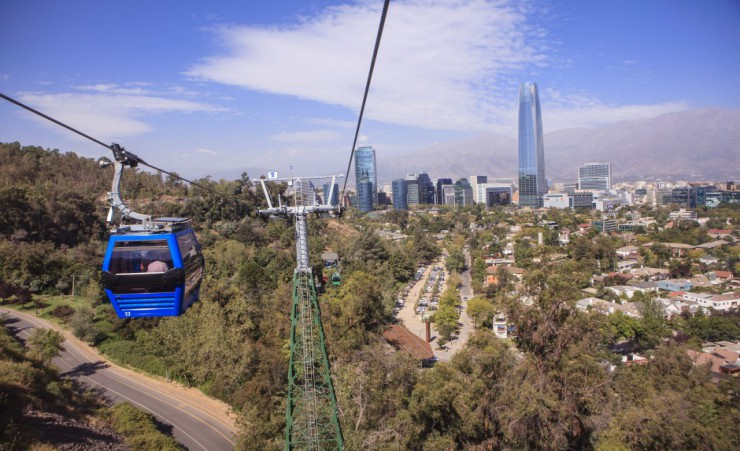 """Cable Car On San Cristobal Hill"""
