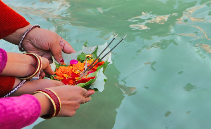 """Puja Ceremony On The Ganga River"""
