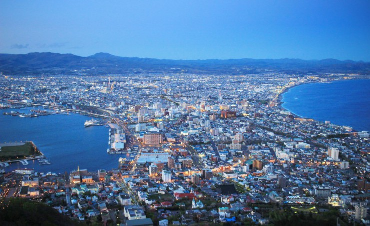 """Cityscape View From Mount Hakodate"""