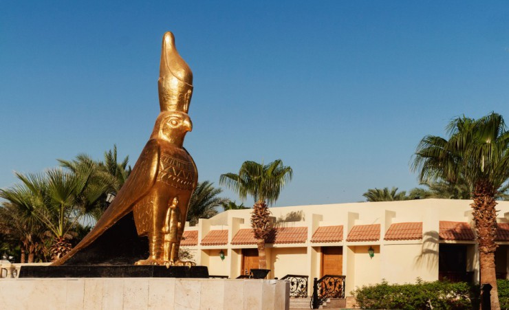 """Golden Statue Of Horus"""