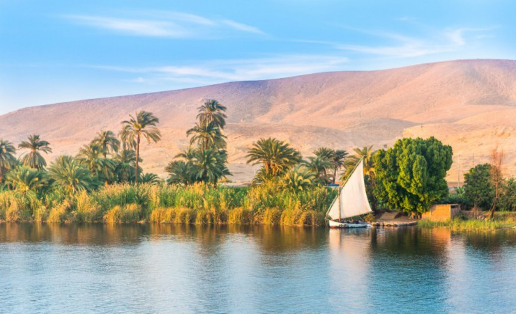 """Nile River Near Luxor"""