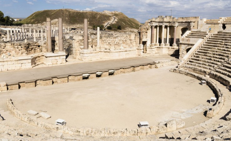 """Ancient Roman Theatre   Bet Shean"""