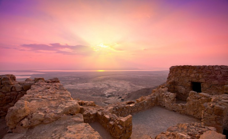 """Sunrise Over Masada"""