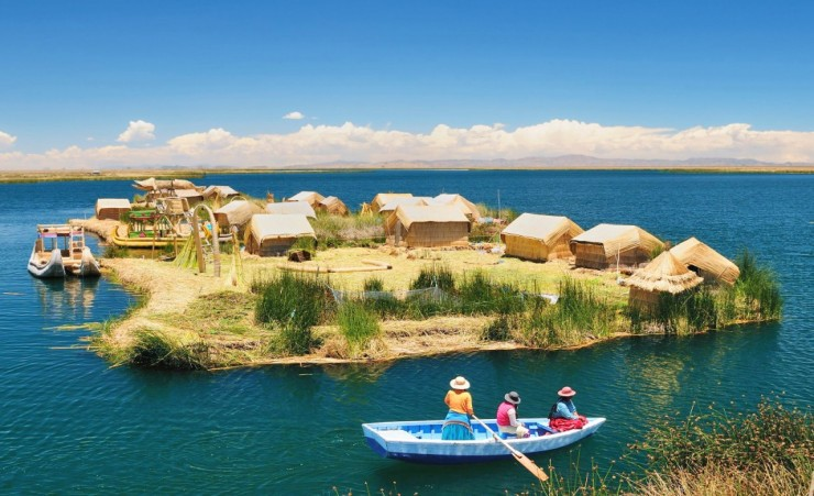 """Floating Uros Islands"""