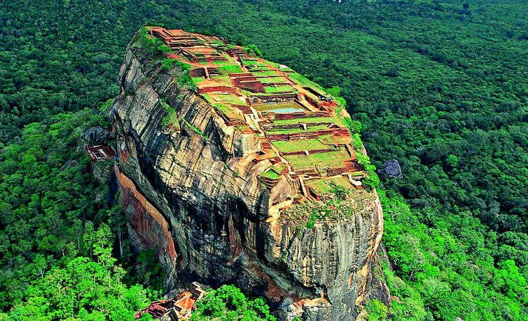 """Aerial View over Sigiriya Fortress"""