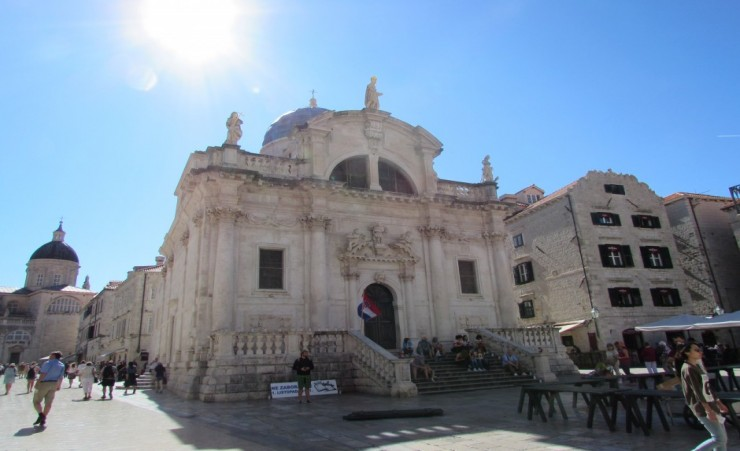 """Historic Church In Dubrovnik Old Town"""