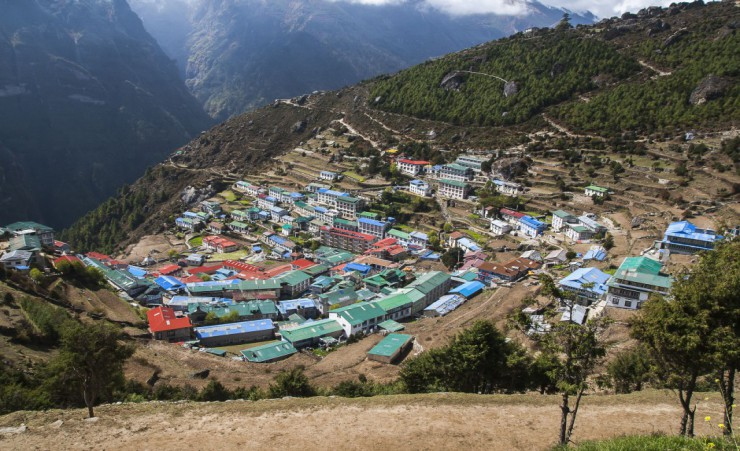 """View Of Namche Bazaar"""
