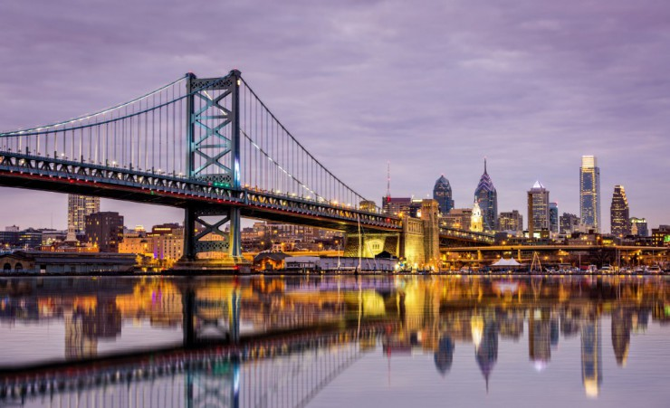 """Ben Franklin Bridge   Philadelphia"""