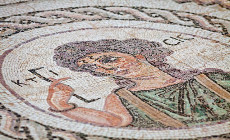 """Ancient Religious Mosaic In Kourion"""