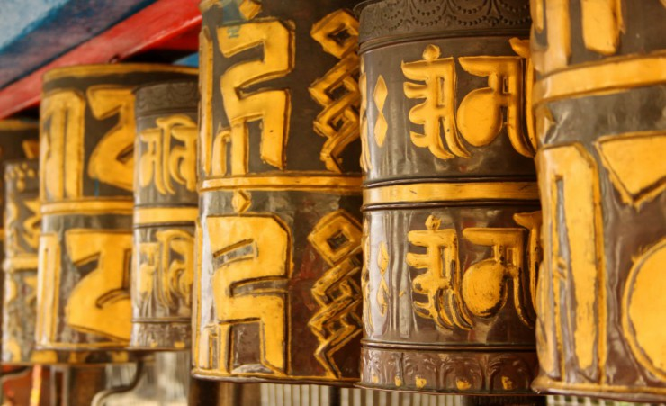 """Prayer Wheels In Gangtok"""