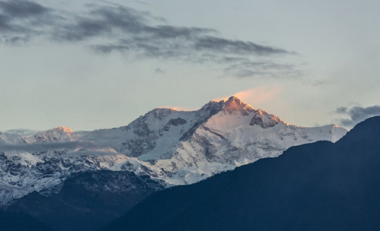 """View Of Kangchenjunga From Sikkim"""