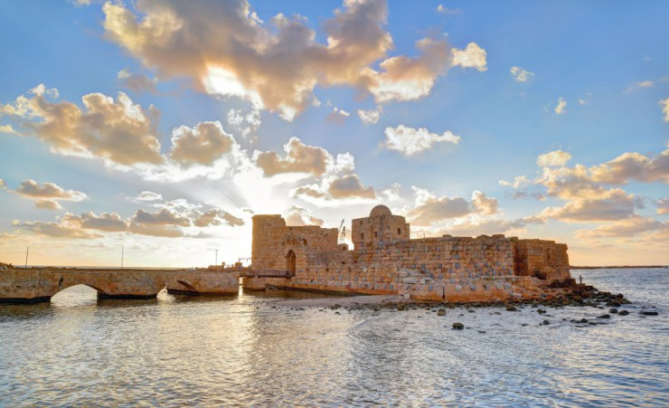 """Crusader Sea Castle In Sidon"""