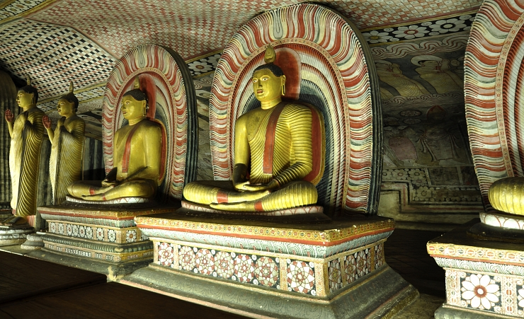 """Inside Dambulla Temple"""