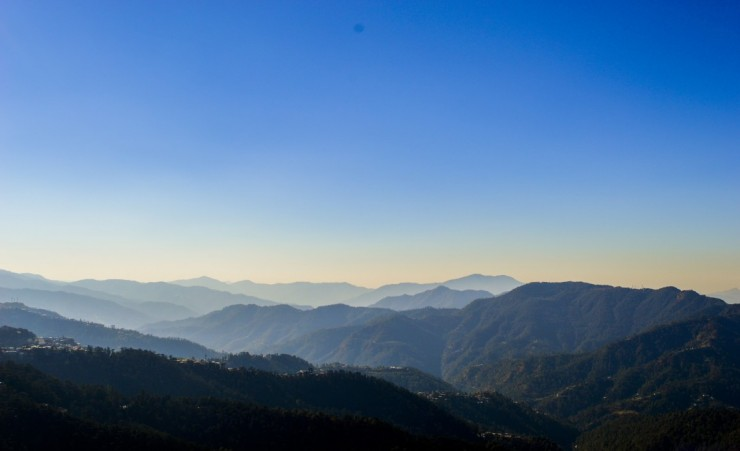 """Mountain Range In Shimla"""