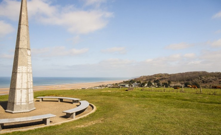 """Monument On Omaha Beach Normandy"""
