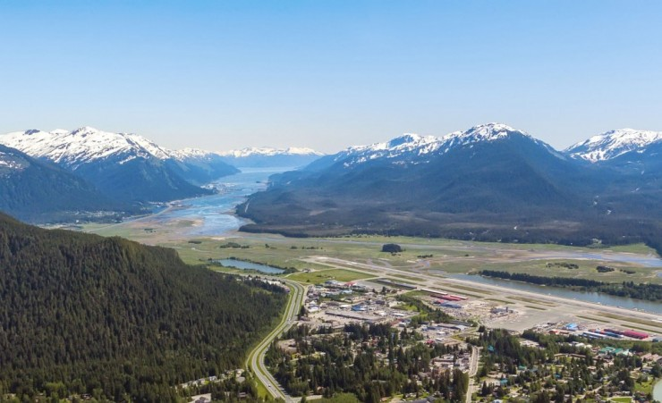 """Aerial View Of Juneau Alaska"""