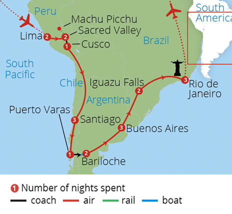 Brazil And Argentina Tours Escorted Tours Of Brazil And - Argentina map tourist