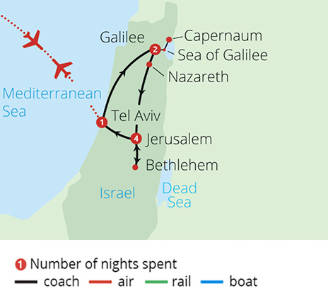 Israel The Holy Land Route Map