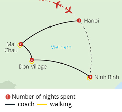 Walking Tour of Vietnam Map