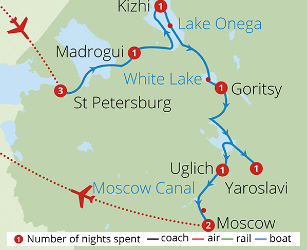 Tsars Tolstoy and Russias Mighty Volga Route Map