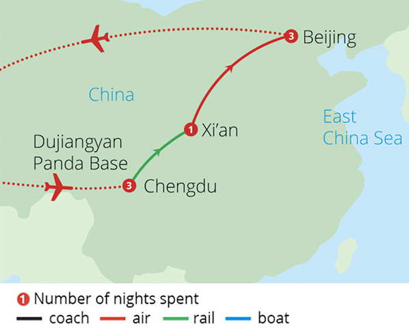 In Pursuit of Pandas Route Map