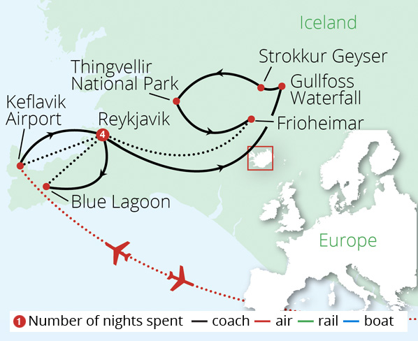 Icelands Northern Lights 2018 Route Map