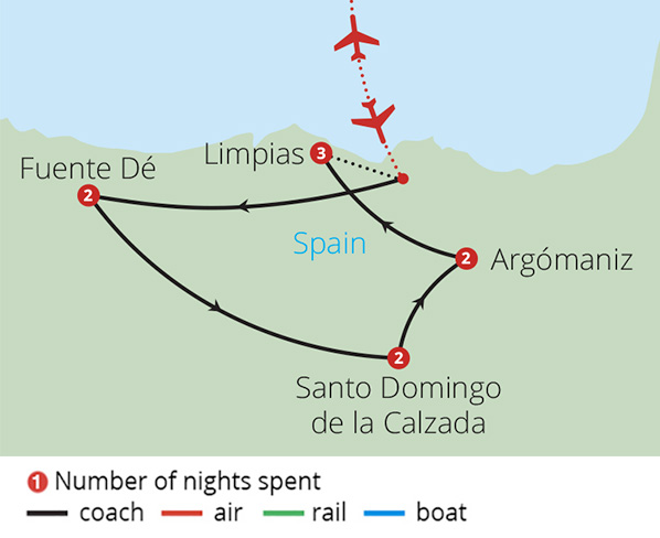 Paradors of Spain Route Map
