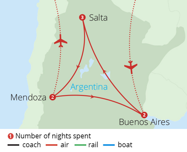 A Taste of Argentina Route Map