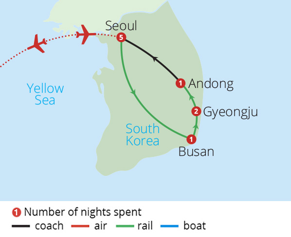 Flavours of South Korea Route Map
