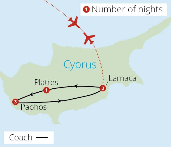 Cyprus Uncovered Route Map
