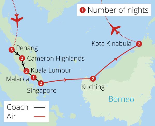 Singapore, Malaysia and Borneo\'s Orangutans - Malaysia Tours ...