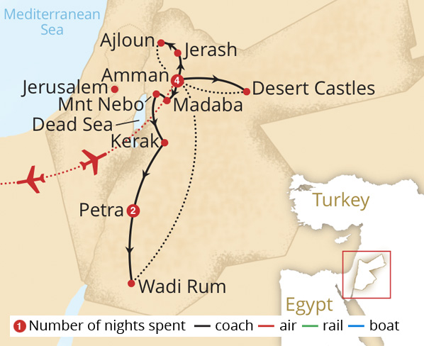 Classical Jordan Route Map