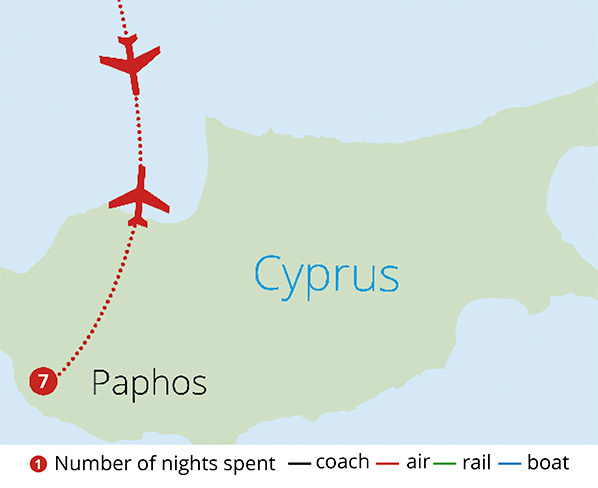 Cyprus Discovery Route Map