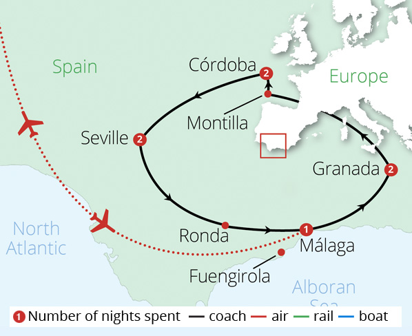 Andalucian Adventure Route Map