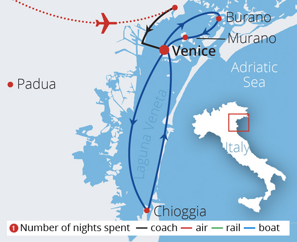 Enchanting Waterways of Venice Route Map